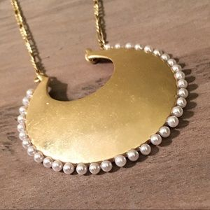 NWT Lucky Brand Gold Tone Pendant Necklace